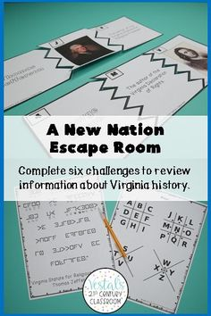 Are you looking for a fun way to review Virginia Studies SOL VS.6? This A New Nation Escape Room is the perfect review activity to use at the end of a unit or before state testing! #vestals21stcenturyclassroom #virginiastudies #virginiastudies4thgrade