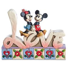 ''Love'' Minnie Mouse and Mickey Mouse Figurine by Jim Shore   Figurines & Keepsakes   Disney Store