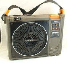 GE portable 8 track tape player--1970s .