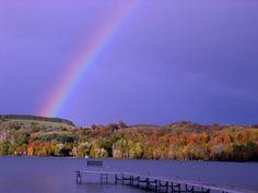 Rainbow on South Lake Leelanau