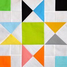 Very fun and modern Ohio Star quilt block