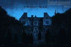 """Giveaway: Win One of Daniel Danger's """"The Woman In Black"""" Posters (Plus Onsale Info) - OMG Posters! Movie Poster Art, New Poster, Film Posters, Art Posters, Best Horror Movies, Scary Movies, Good Movies, Awesome Movies, Horror Films"""