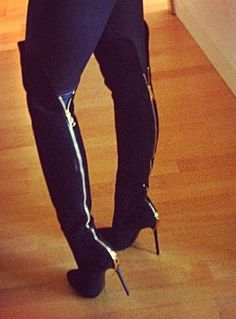 I've been dying for these back zipper over the knee boots!