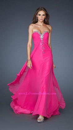 La Femme 18856   La Femme Fashion 2013 - La Femme Prom Dresses - Gorgeous Hot Pink #IPAProm