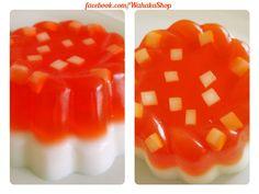 jabón con forma de gelatina, colores varios
