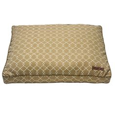 Tolerant to sun damage, the Soleil Pillow Bed is the perfect choice for an outdoor setting but functional to use indoors year round. Fabrics repel against water and are easy to wash clean with a simple wipe down or wash. Machine wash, hang dry. This bed is filled with Sustainafill, eco friendly fiber.  Starting at $120. Sizes include: Small 25″ x 25″ square. Medium 30″ x 30″ square. Large 36″ x 36″ square. Small rectangle 20″ x 28″. Medium rectangle 28″ x 36″. Large rectangle 36″ x 42″.