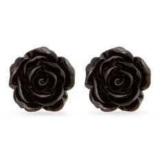 Erica Lyons Black Gold-Tone La Vida Jet Button Earrings ($6) ❤ liked on Polyvore featuring jewelry, earrings, black, vintage button jewelry, vintage jewellery, button earrings, gold colored earrings and vintage earrings