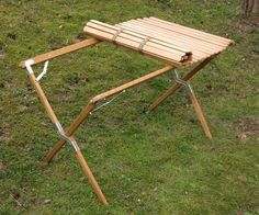holz camping tisch roll top camp table 10 20 06 1 camping pinterest. Black Bedroom Furniture Sets. Home Design Ideas