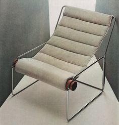 SLING CHAIR CONCEPT #metal frame Silvio Coppola, Londra 840, for Mobel Italia