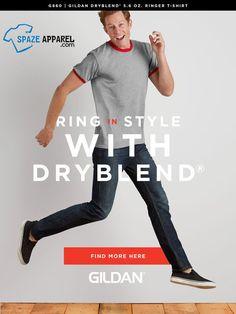 #Gildan G860 Men's DryBlend Ringer #TShirt