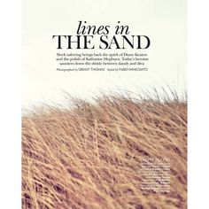 Lines in the Sand Daniela Alves by Grant Thomas for Vogue India July... ❤ liked on Polyvore featuring text, backgrounds, photos, quotes, words, magazine, phrase and saying