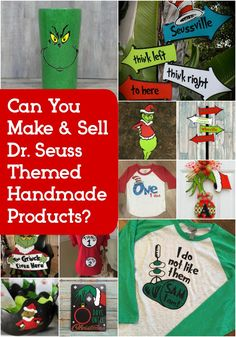 Trademark Issues: Can You Make & Sell Dr. Seuss Themed Products? Great for Silhouette Cameo or Cricut Explore or Maker owners - http://cuttingforbusiness.com/?p=8213