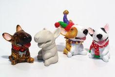 unpainted mini bull terrier figurines