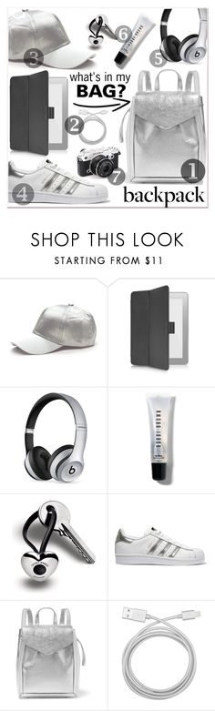 """In My Backpack"" by razone ❤ liked on Polyvore featuring Giorgio Fedon 1919, Beats by Dr. Dre, Bobbi Brown Cosmetics, Georg Jensen, adidas Originals, Loeffler Randall, Belkin, backpack and inmybackpack"