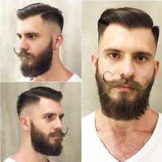Beard And Mustache Styles, Beard No Mustache, Hair And Beard Styles, Moustache, Hair Styles, Beard Shapes, Handlebar Mustache, Beard Model, American Crew