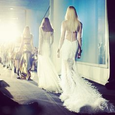 feathers on the runway