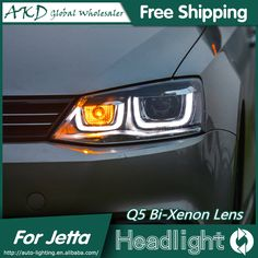 AKD Car Styling for VW Jetta Headlights 2011-2015 New Jetta MK6 LED Headlight DRL Bi Xenon Lens High Low Beam Parking Fog Lamp