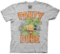 tmnt toddler shirt | Amazon.com: TMNT Teenage Mutant Ninja Turtles Party Dude Gray T-shirt ...