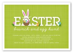 Invite everyone to an Easter celebration with Easter invitations. Easter Invitations, Brunch Invitations, Invitation Cards, Invite, Fundraiser Themes, Pink Palette, Easter Celebration, Easter Brunch, House In The Woods