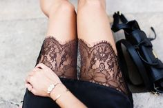 Add lace to a plain skirt or dress