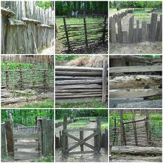 Fences can be for more than just surrounding a backyard.  They are decorative and can add charm to an area.