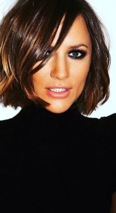 Caroline Flack Instagram hair inspiration bob lob short hair