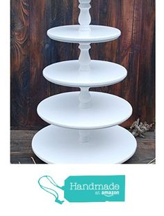 cupcake stand round 5 tier with threaded rod mdf wood diy. Black Bedroom Furniture Sets. Home Design Ideas