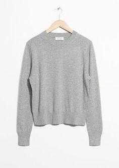 & Other Stories image 1 of Cashmere Knit Sweater in Grey