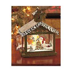 LED Lighted Lantern Green Santa Claus… Green Santa, Candleholders, Lanterns, Clock, Led, Christmas Ornaments, Holiday Decor, Wall, Home Decor
