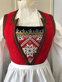 Made by Inger Johanne Wilde Hardanger Embroidery, Ice Queen, Traditional Outfits, Norway, Christmas Ideas, Costumes, Blouse, Life, Style