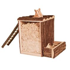 TRIXIE NATURAL WOOD PLAY & BURROWING TOWER HAMSTER GERBIL MICE CAGE TOY 62001 in Pet Supplies, Small Animal Supplies, Exercise & Toys | eBay