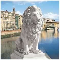 Features:  -Cast in quality designer resin.  -Almost two-and-a-half feet tall.  -Design Toscano exclusive.  -Faux stone finish.  -Lion of Florence collection.  -Only includes the lion.  Product Type: