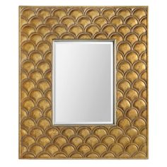 Renwil Epsilon Gold Leaf Mirror   Overstock.com Shopping - Great Deals on Renwil Mirrors