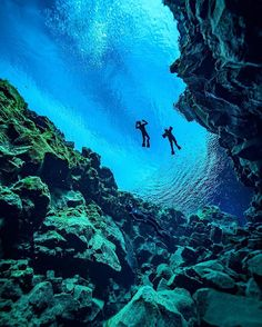 Did you know Iceland's Silfra fissure in Thingvellir National Park is the only place in the world where you can dive between two tectonic plates?