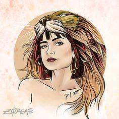 Zodiaca de Leão - Inspiração: Maria Casadevall #mariacasadevall  #illustration #ilustracao #atriz