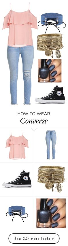 """""""Untitled #2253"""" by aiag on Polyvore featuring BB Dakota and Converse"""