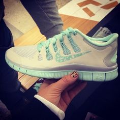 4d35f9e71eb8 Nike Free 5.0 Light Grey Tiffany Blue Nike Shoes Outlet