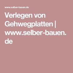Verlegen von Gehwegplatten   www.selber-bauen.de
