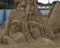 Tribure to America - sand sculpture