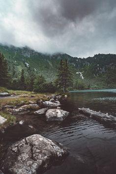 Foggy day at Lake Schiebel, Austria by philipp_mitterlehner