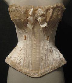 Antique Wedding Corset from Paris, 1880