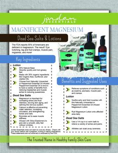 Magnesium lotion helps with leg and foot cramps, muscle pain, migraines and more! Leg And Foot Cramps, Magnesium Benefits, Topical Magnesium, How To Calm Nerves, Natural Pain Relief, Healthy Skin Care, Muscle Pain, Green Cleaning, How To Increase Energy