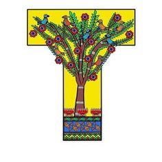 The Tree Of Life by Archa Malhotra Ancient Indian Art, Indian Folk Art, Madhubani Art, Madhubani Painting, Tree Of Life Art, Candle Holder Decor, Indian Art Paintings, Alphabet Art, Mandala Drawing