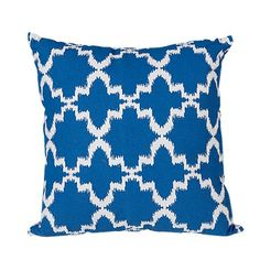 Elemis Cushion Cotton Canvas Geo Blue - Cushions & Throws - Living Room - Homewares - The Warehouse