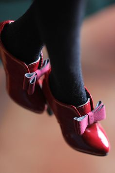 [Brands: + tea Full Story +] 1/3BJD SD16 DD simple little patent leather high-heeled - Taobao