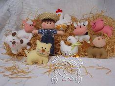 Bichinhos da fazenda para lembrancinhas de nascimento, aniversário etc...