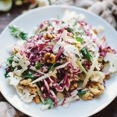 Salada de couve-flor ralado