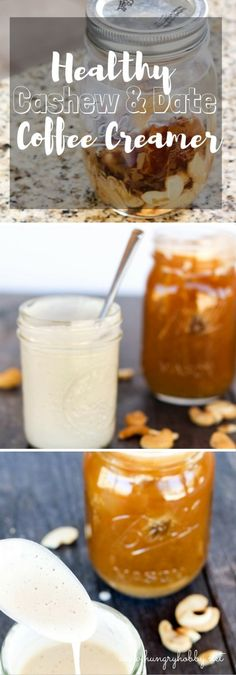 Healthy Cashew and Date Coffee Creamer