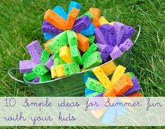 10+ Simple Ideas for Summer Fun! I've done some of these before....great fun!