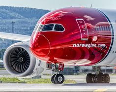"""Norwegian Air Shuttle - EI-LNH Boeing - 787-8 Dreamliner Norway - Oslo - Gardermoen (OSL / ENGM) #air #airlines #Airport #AirWays #Boeing #Aviation…"""